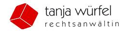 Rechtsanwältin Tanja Würfel Logo